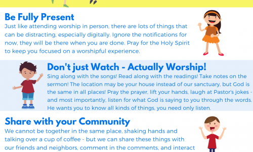 Online Worship – April 18th/19th, 2020