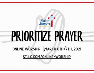 Online Worship Available Now – March 6th/7th, 2021