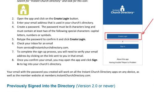 Please Join Our Church Directory